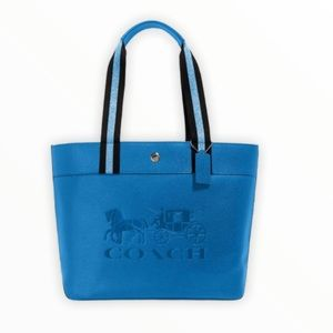 Coach Jes Tote With Horse And Carriage Bag Blue
